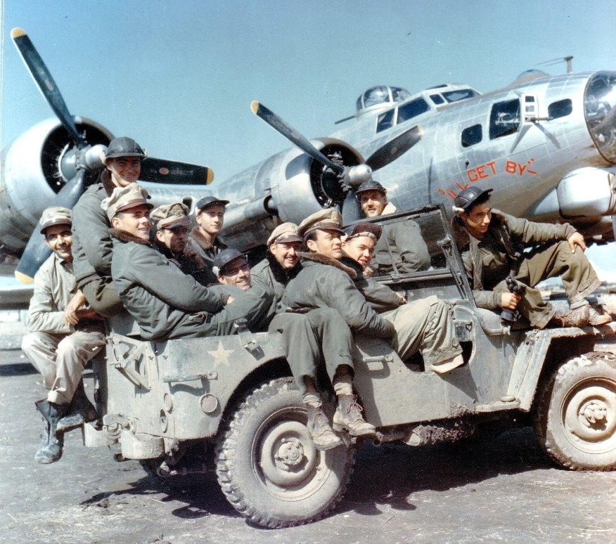 B-17G #42-102700 I'll Get By Crew