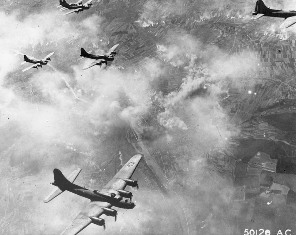 B-17 Formation over Schweinfurt on 17th August 1943