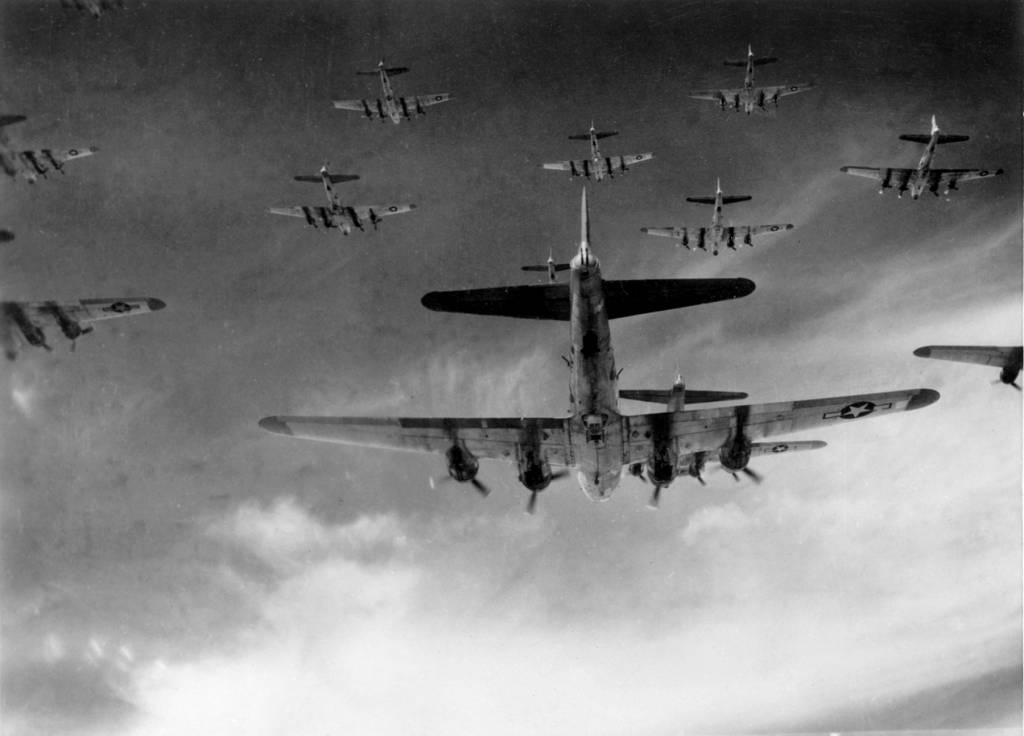 B-17 in Formation