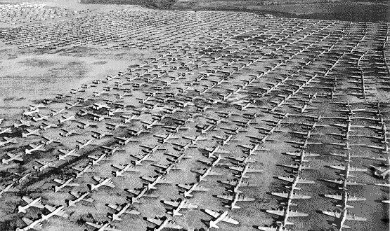 B-17s at Kingman, Arizona