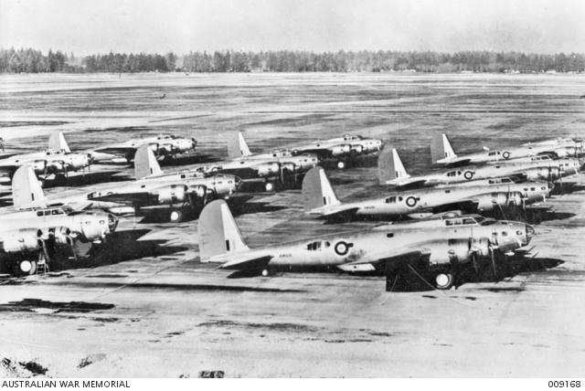Eine Gruppe von B-17C warten auf die Auslieferung an Großbritannien