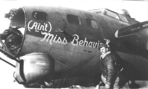 "B-17 #42-37790 / (Aint) ""Miss Behavin"""