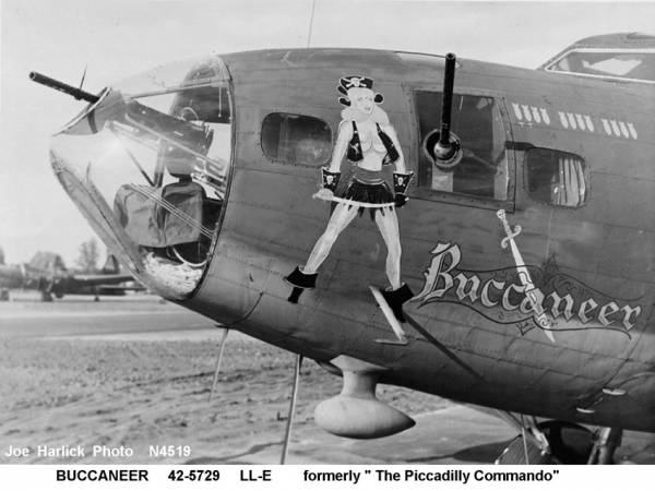 B-17 #42-5729 / The Piccadilly Commando aka Buccaneer