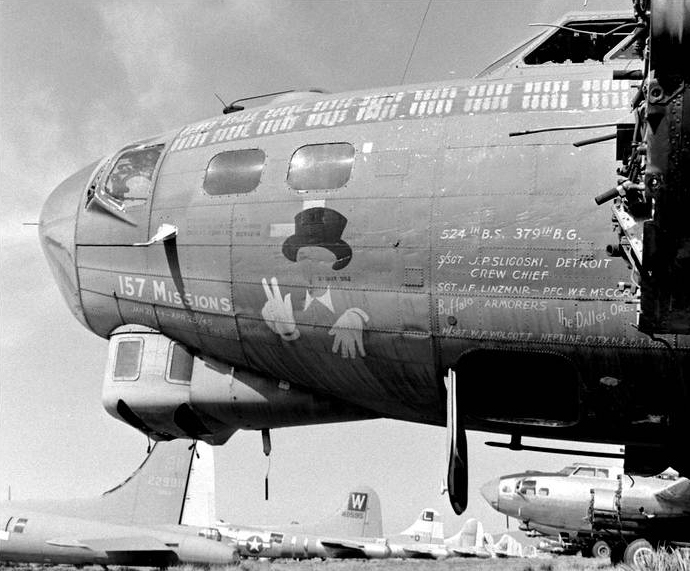 B-17 #42-40003 'Topper' aka 'Ol' Gappy' at Kingman, Arizona.