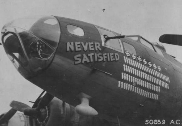B-17 #42-5388 / Never Satisfied