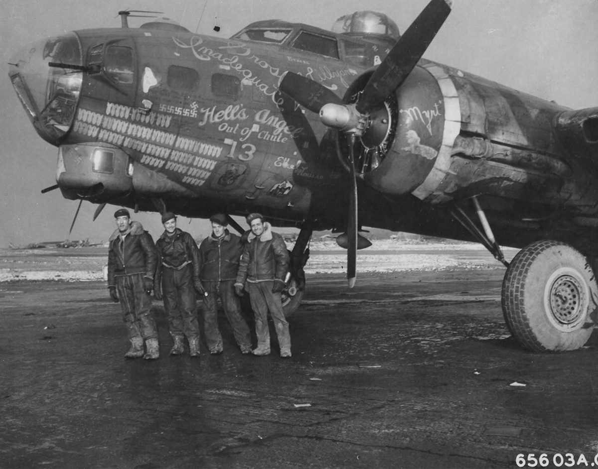 B-17 #42-39993 / Hell's Angel Out of Chute 13 aka Grossly Inadequate