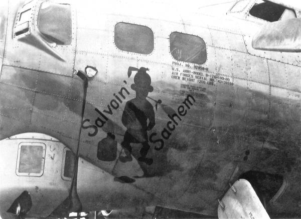 B-17 #43-38910 / Salvoin' Sachem