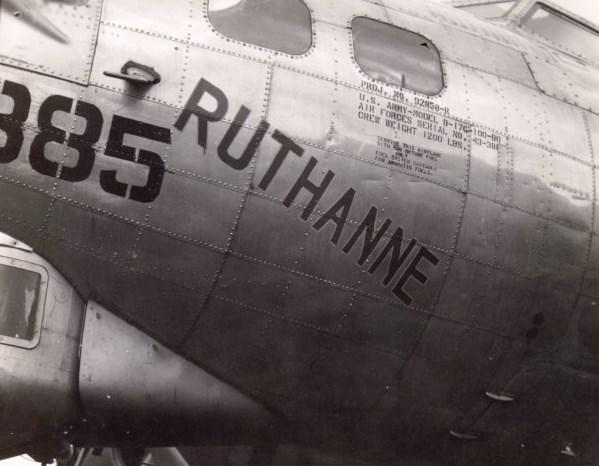 B-17 #43-38885 / Ruthanne