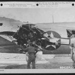 B-17G with damaged fuselage